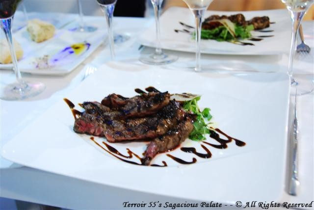 Grilled Steak with Balsamic Vinegar and Truffle Oil