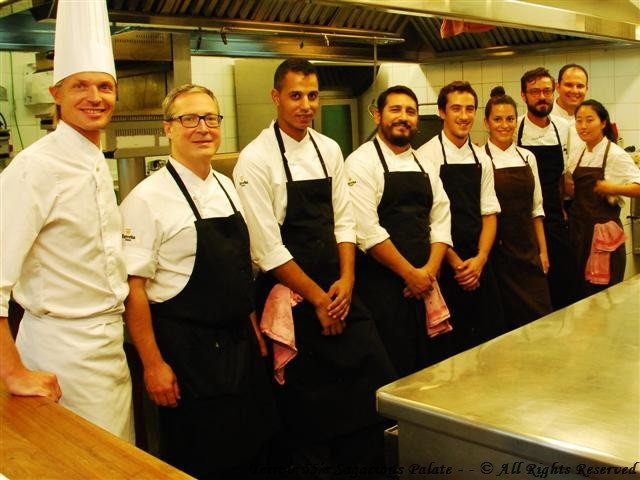 In the kitchen at Bravo