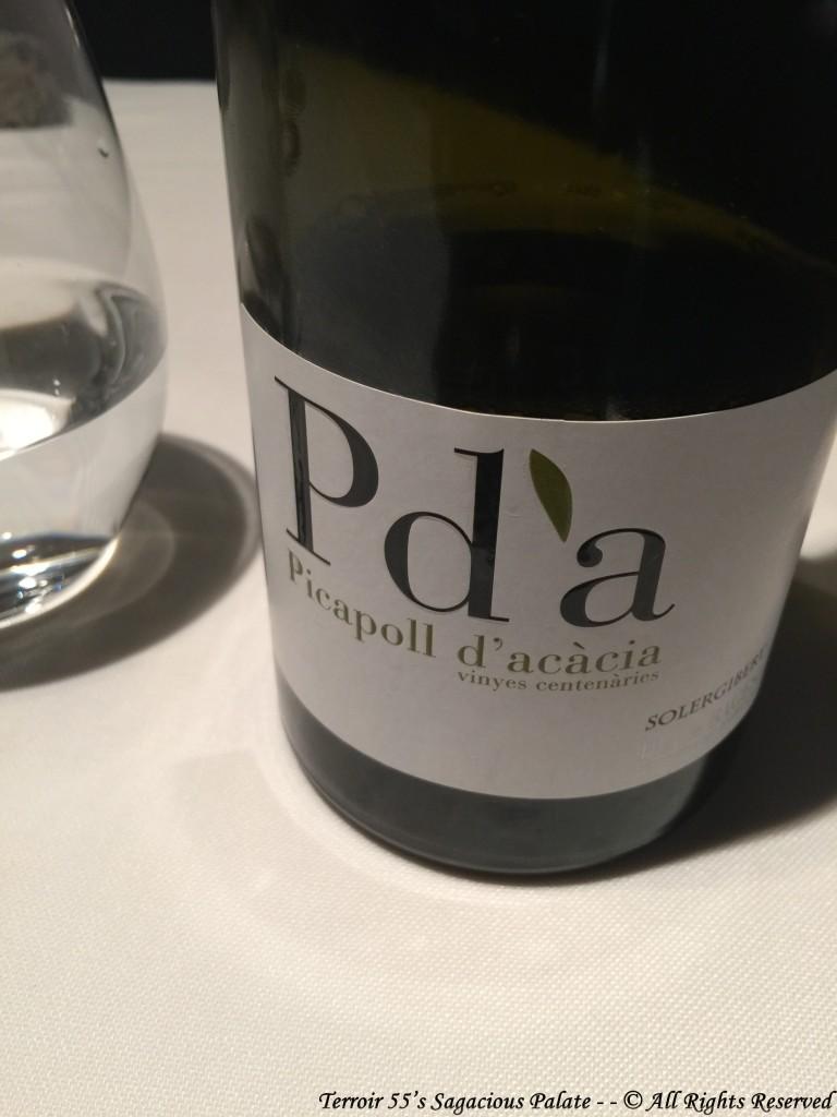 """Pdà 2011 """"Picapoll d'Acàcia"""" D.O. Pla de Bages"""