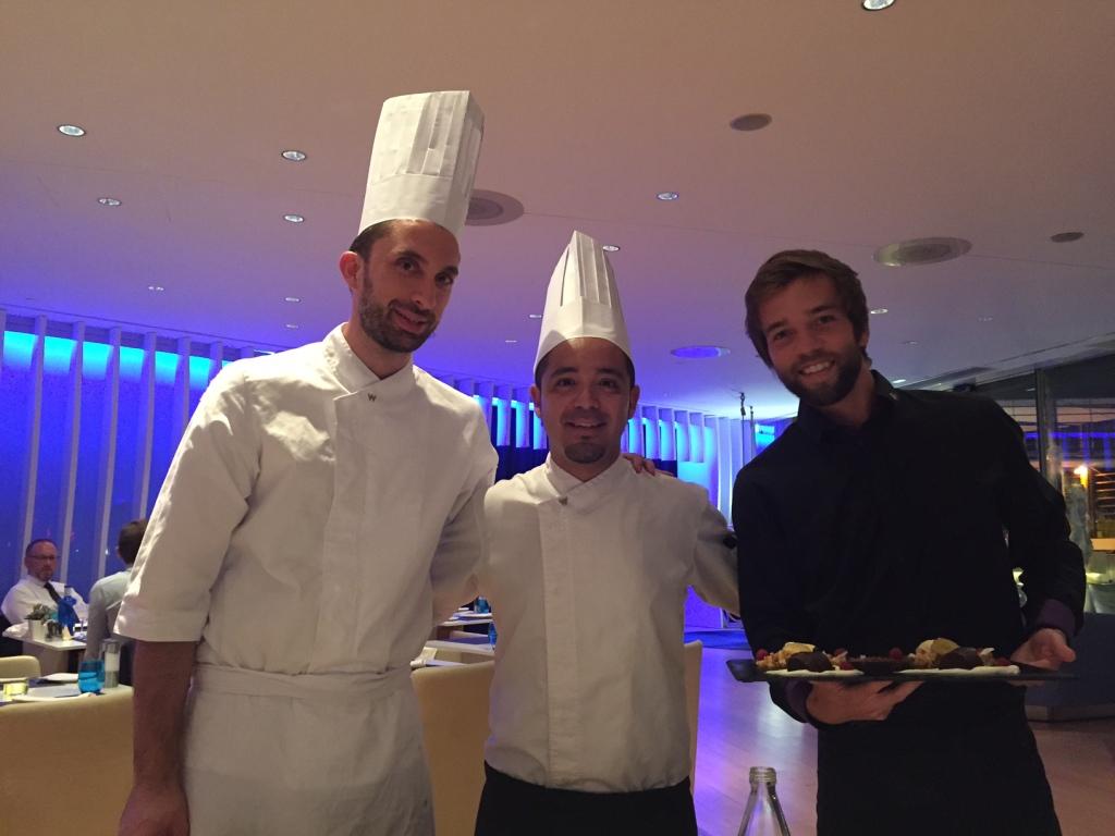 Chef Jesus Sanchez, Chef Juan Luis Herrera and Oscar - WAVE (Photo courtesy of Mr. Tavallali)