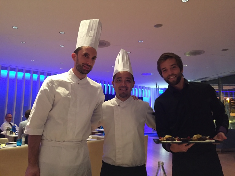 Chef Jesus Sanchez, Chef Juan Luis Herrera and Oscar - WAVE (Photo courtesy of Mr. Tavallali)