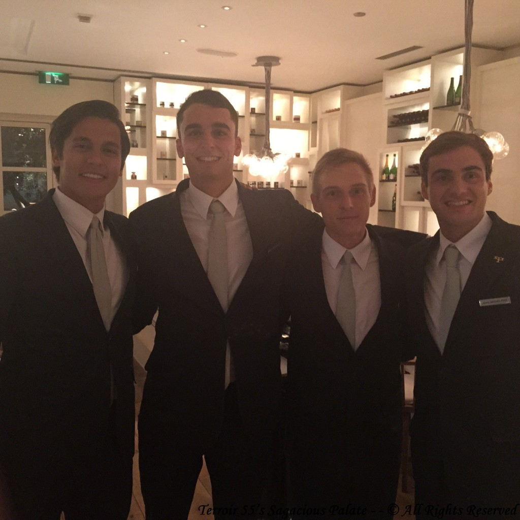 The Dream Team, (Seth, Paco & Denis) & Sommelier, Jao