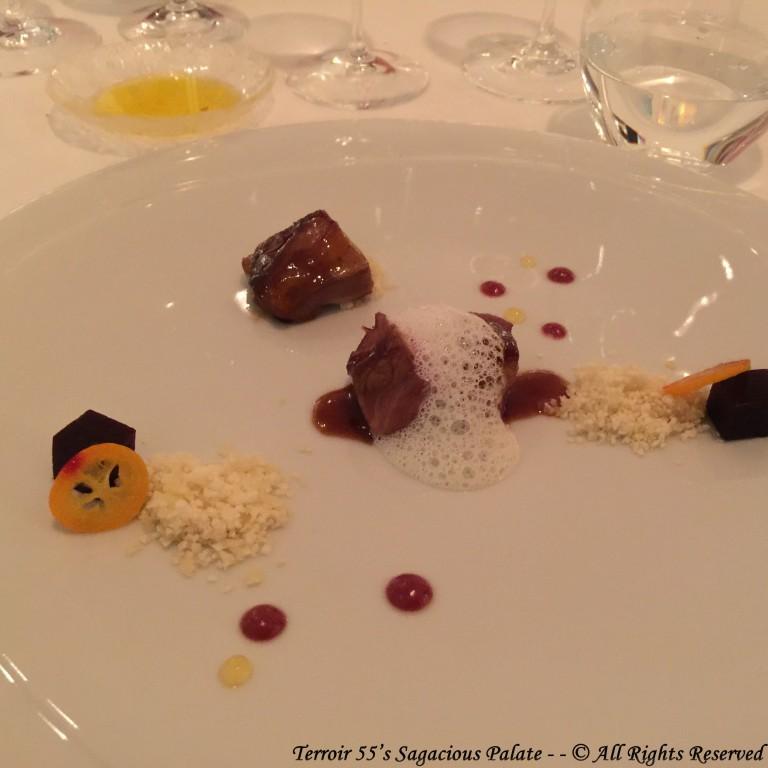 Cordero Lechal, Cous-Cous de Coliflor, Cereza y Citricos