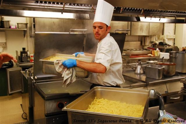 Chef Alejandro Padilla, responsible for all staff meals (up to 600 per day!)