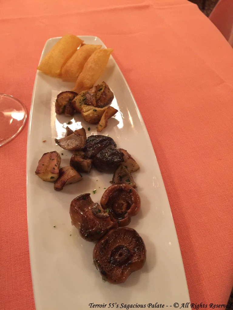 Assorted Mushrooms and potatoes