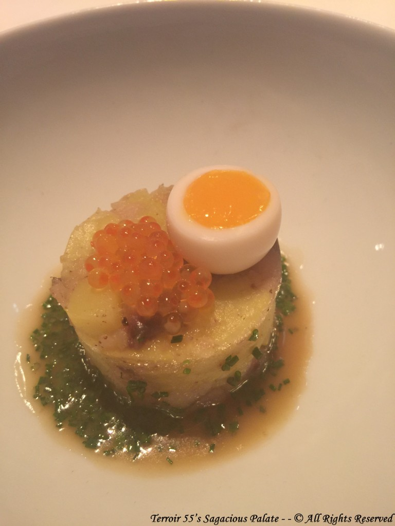 Polenta with Quail Egg