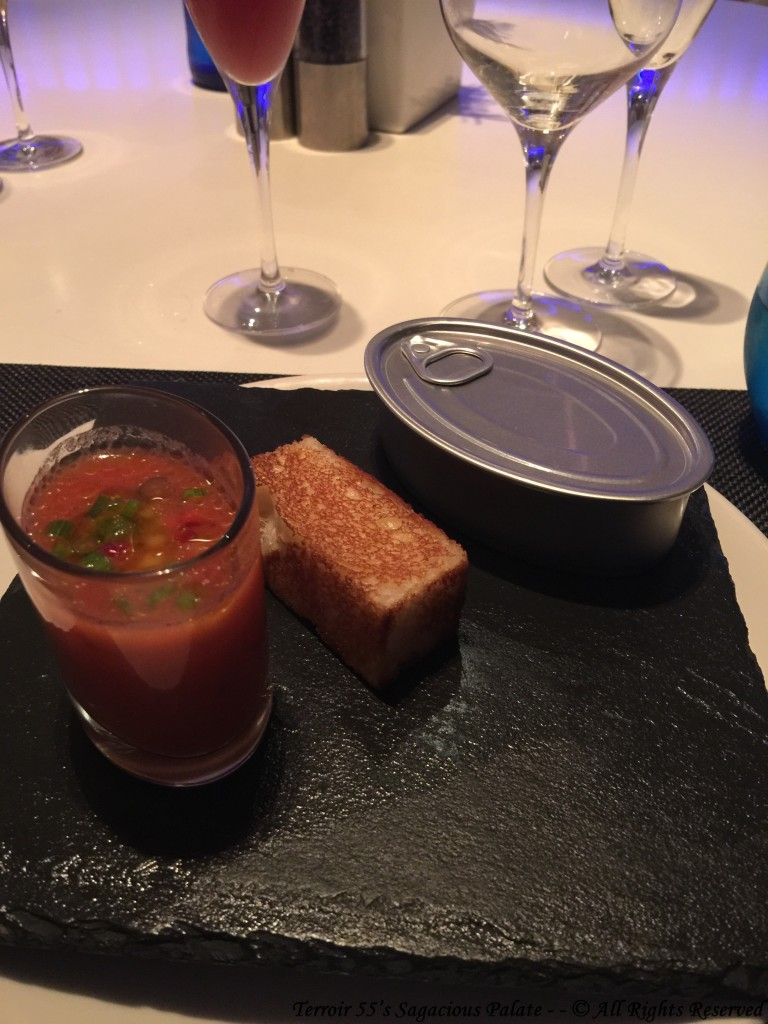 Amuse Bouche (Gazpacho & Foie Gras)