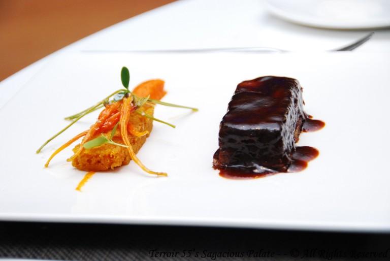 Lasagna De Rabo Buey, Textures De Zanahoria