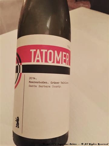 2014 Tatomer Grüner Veltliner, Meeresboden (Santa Barbara County)