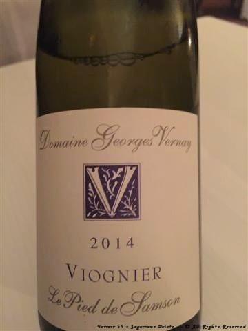 """2014 Domaine Georges Vernay """"Le pied de Samson"""" Viognier"""