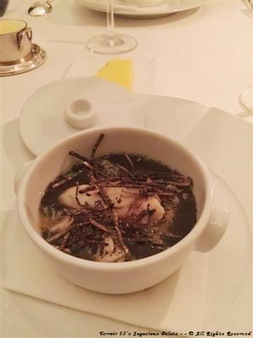 PORCINI FLAN (Golden Princess crab, black truffle dashi)