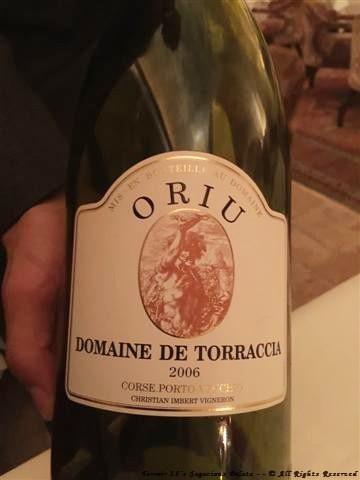 """2006 Domaine de Torraccia Corse Porto-Vecchio """"Cuvee Oriu,"""" (Corsica, France)"""
