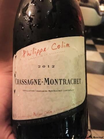 "2012 Philippe Colin ""Chassagne-Montrachet"""