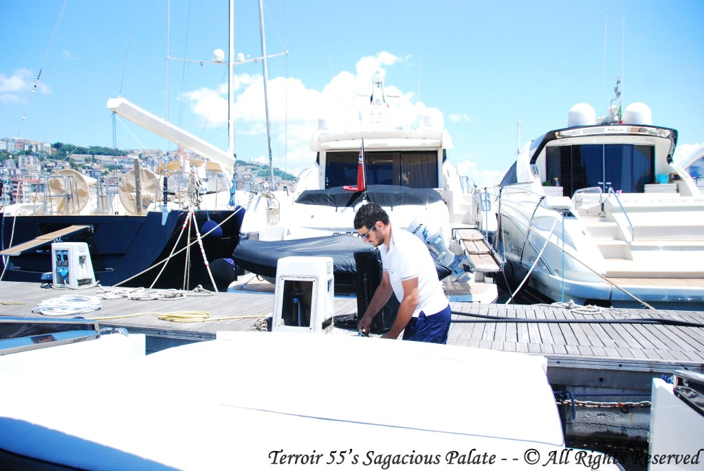 Marina in Naples - our captain, Diego