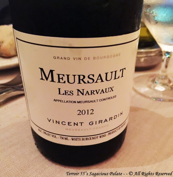 "2012 Meursault ""Les Narvaux"" Vincent Girardin"