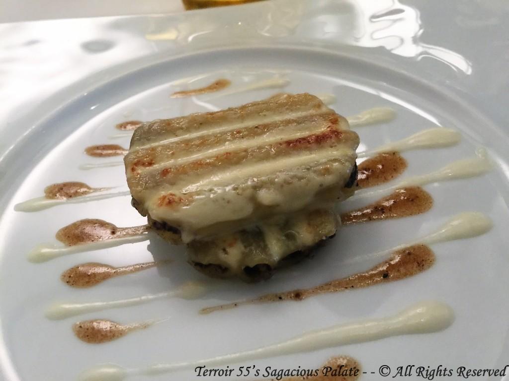 Macaroni, truffle noire et foie gras de canard