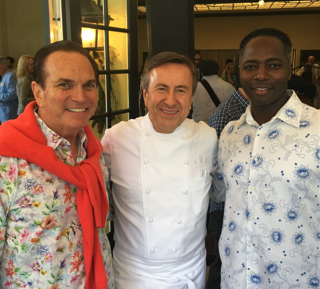 With Chef Daniel and Tony at Café Boulud