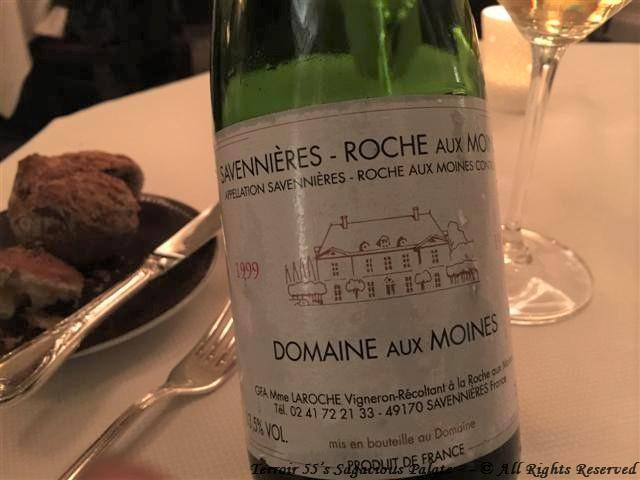 """Domaine aux Moines Savennieres """"Roches aux Moines,"""" Loire 1999"""