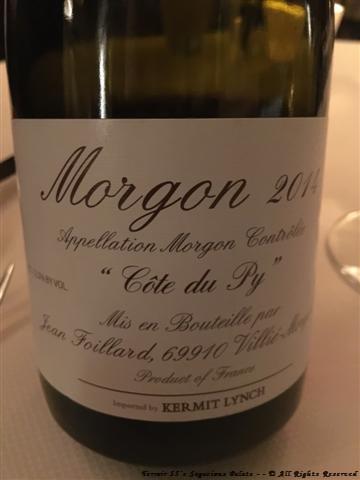 "Foillard Morgon ""Cote du Py,"" Beaujolais 2014"