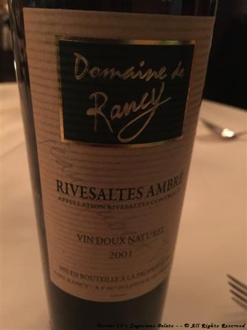 Domaine de Rancy Rivesaltes Ambré Roussillon 2001