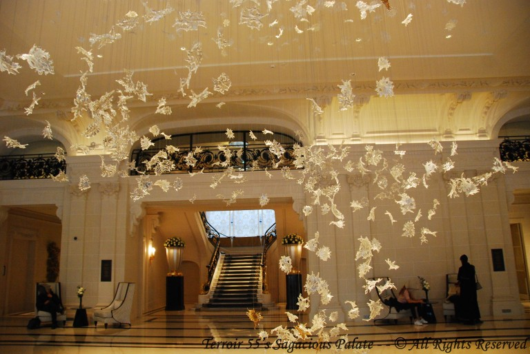 "Peninsula's Lobby – ""Dancing Leaves"" – Designed by Luděk Hroch, created by Lasvit (Glass Couture)"