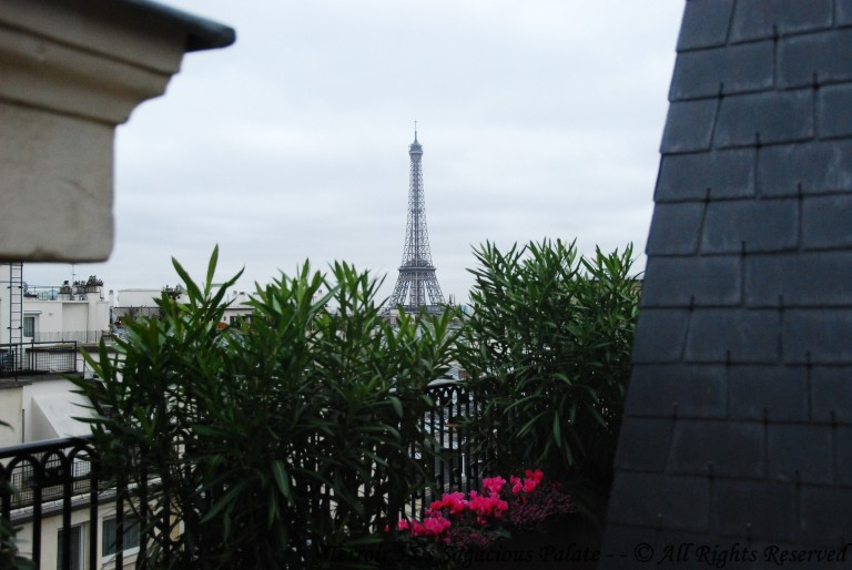 Rooftop view from The Peninsula of the Eiffel Tower