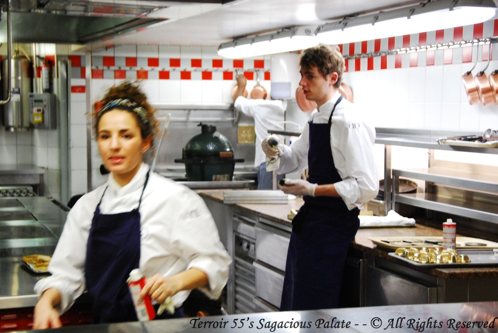 In the kitchen....