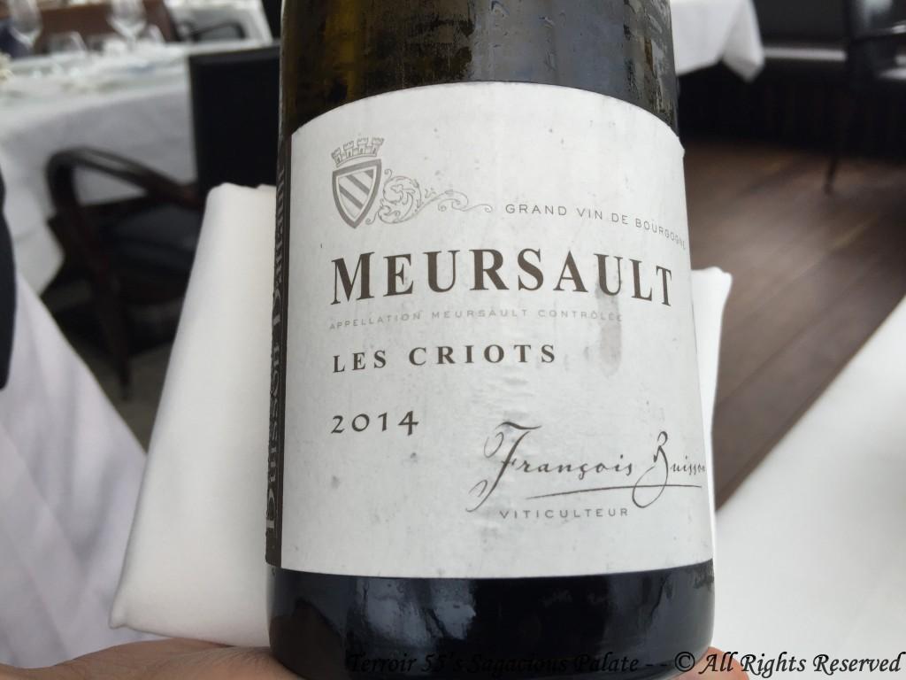 "Francois Buisson Meursault ""Les Criots"" 2014"