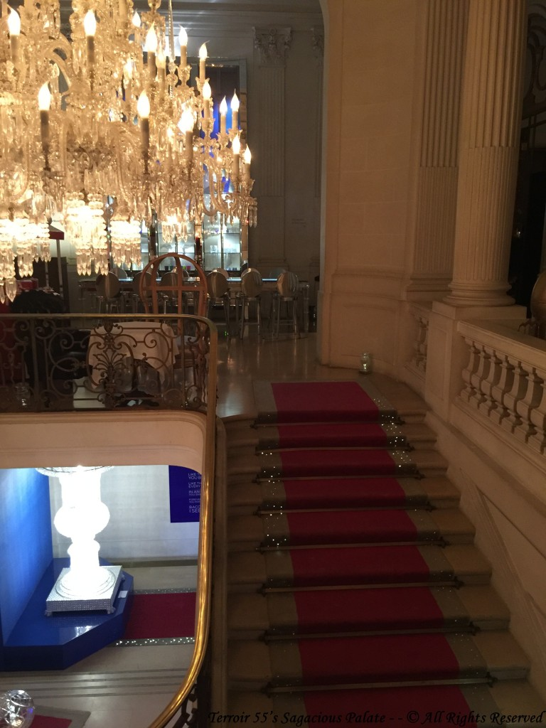 Staircase leading to the Cristal Room
