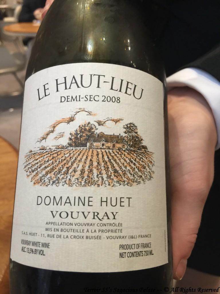 """2008 Vouvray demi sec, """"Le Haut Lieu"""" Domaine Huet"""