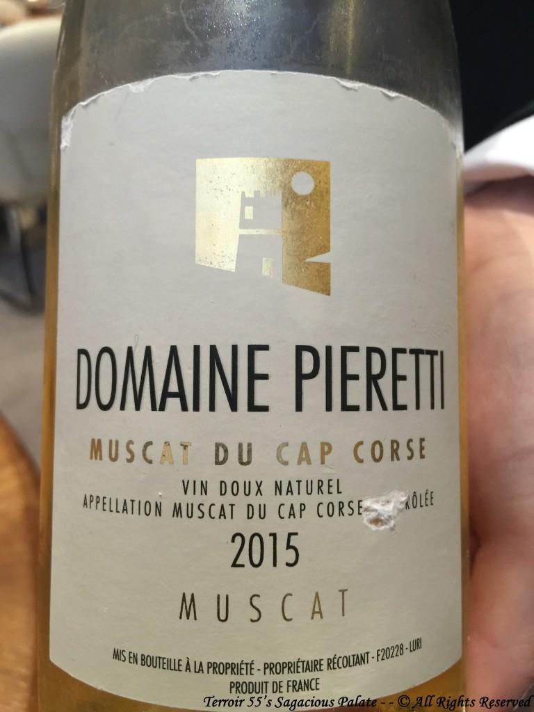 2015 Muscat du Cap Corse Domaine Pieretti