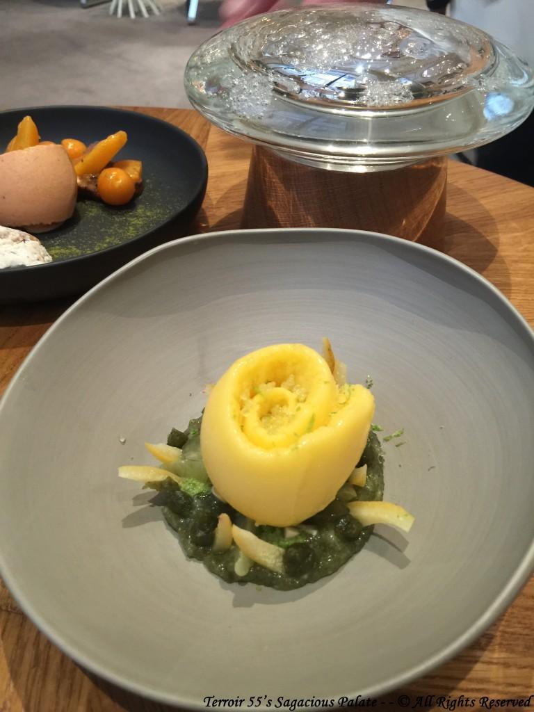 Citron niçois, algues kombu à l'estragon