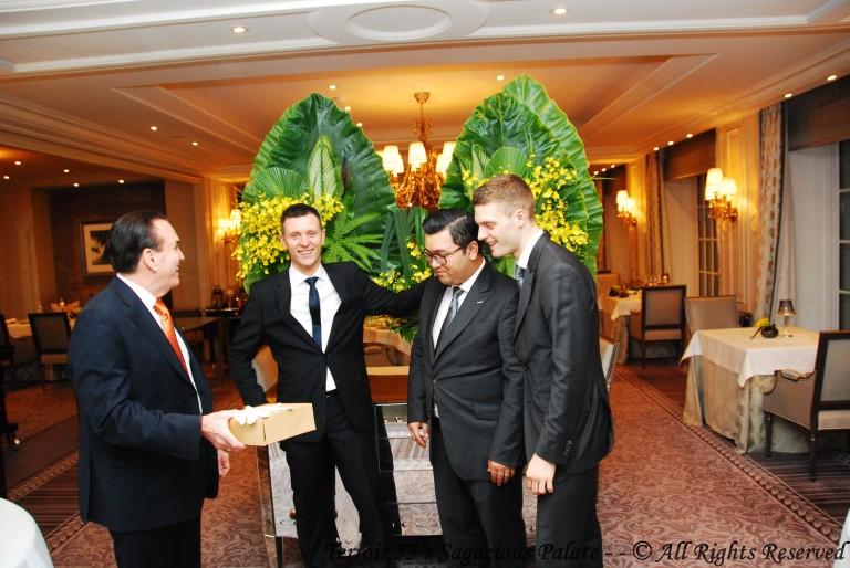 Tony with Jean-François, Alain and Maxime
