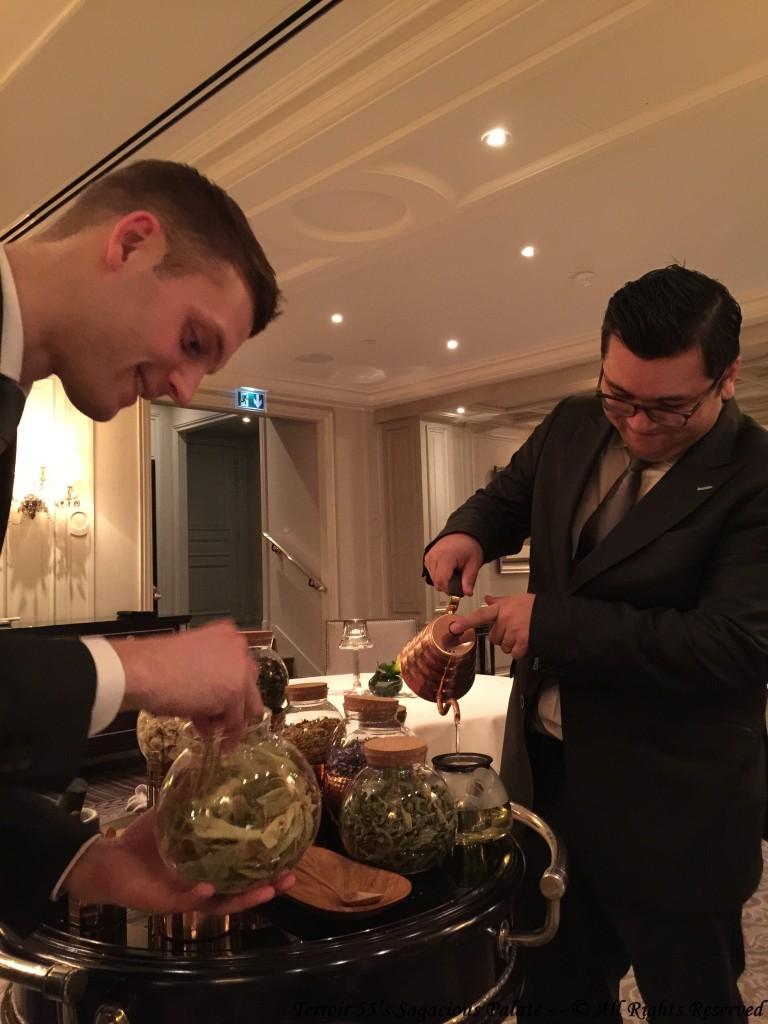 Maxime and Alain -- tea service