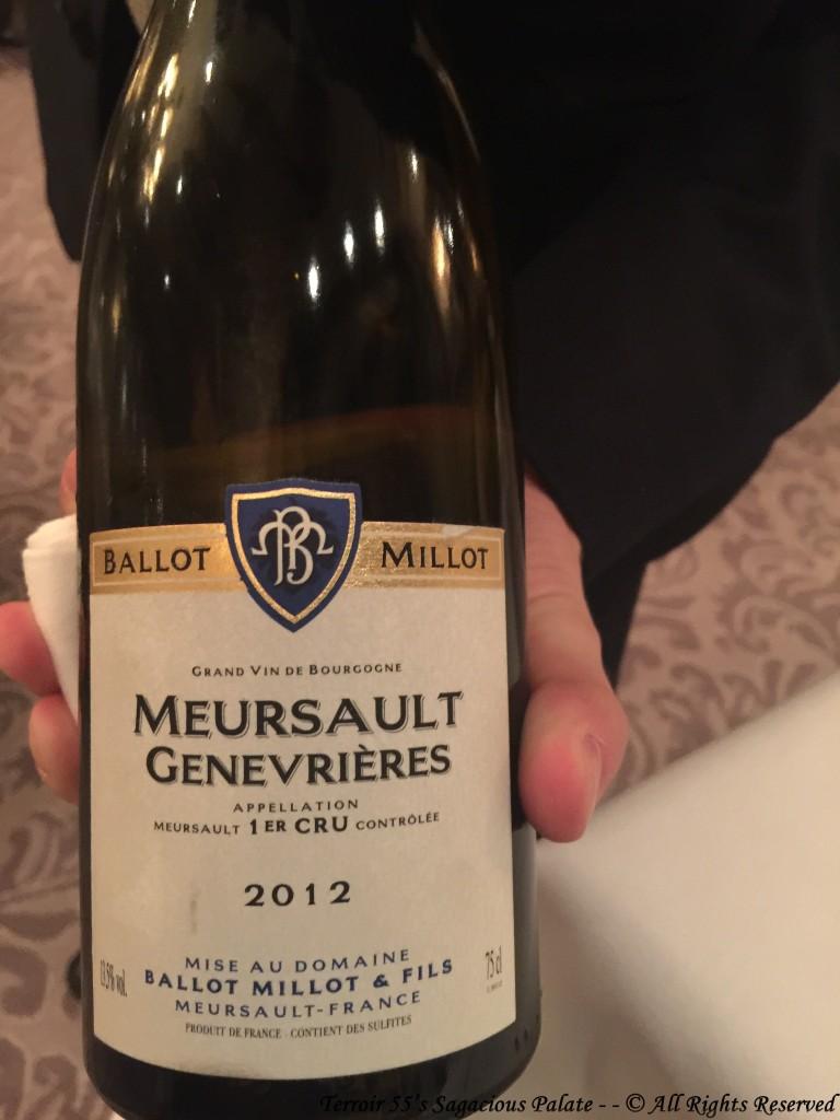 "Ballot Millot Meursault ""Genevrières"" 1er Cru - 2012"