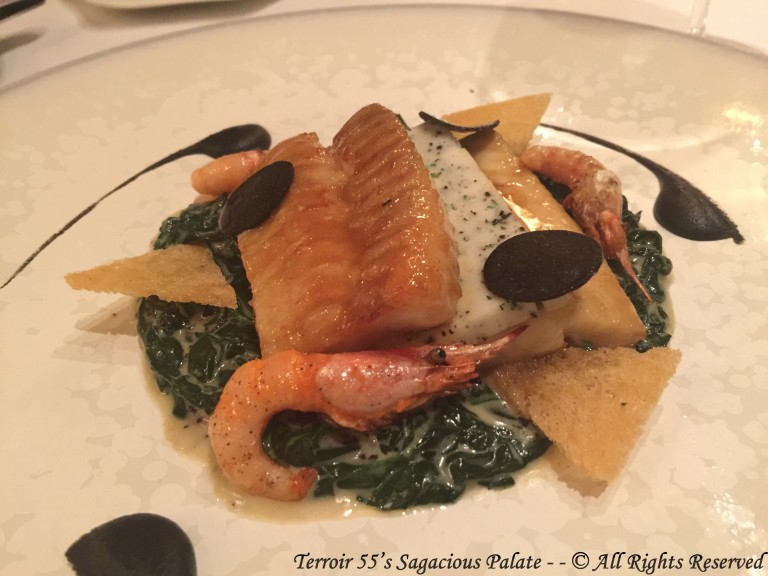 Line caught sole and tuber melanosporum cooked with Château-Chalon wine