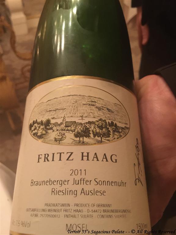 """2011 Fritz Haag """"Brauneberger Juffer Sonnenuhr"""", Riesling Auslese"""