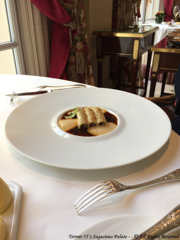 Stuffed Macaroni With black truffle, artichoke and duck foie gras, gratinated with mature Parmesan cheese.