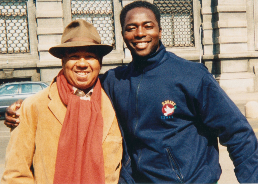 With Mr. Bobby Short in Milan, Italy.